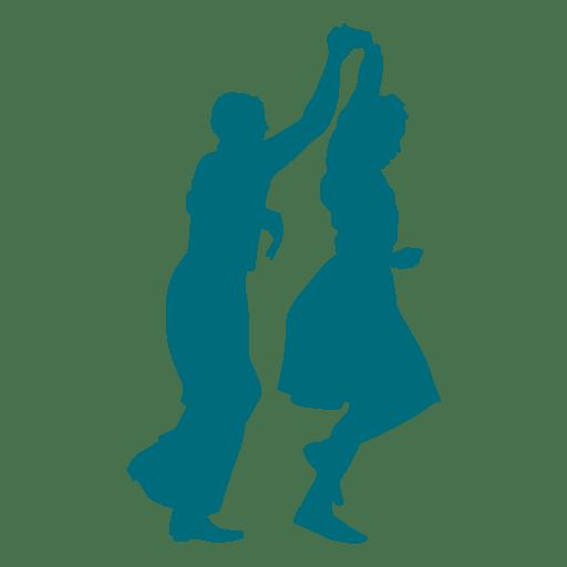 512x512 Lindy Hop Dance Man Spinning Woman Silhouette