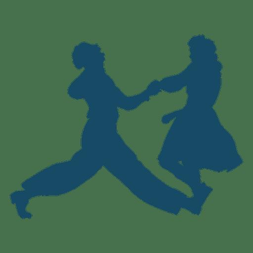 512x512 Lindy Hop Dance Silhouette