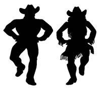 200x180 Country western dance silhouettes The Stock A Silhouette