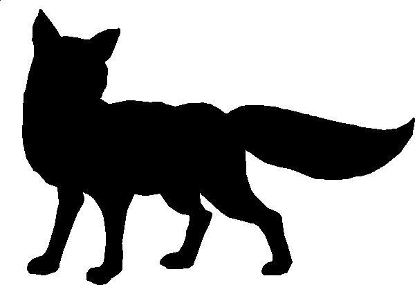 600x412 Silhouette Clipart Fox