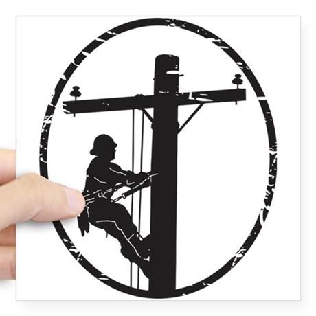 460x460 Power Lineman Stickers