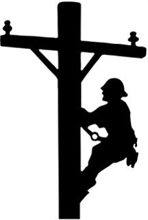 lineman silhouette at getdrawings com free for personal use rh getdrawings com free lineman clipart lineman hooks clipart