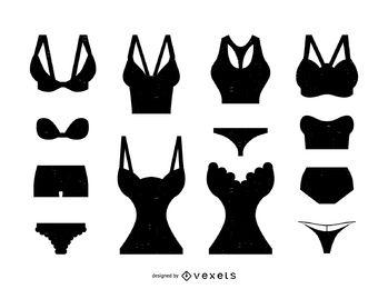 349x260 Women Bra Silhouette Set
