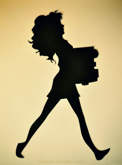 500x675 Hermione Granger Silhouette. Based On The Drawing By Burdge