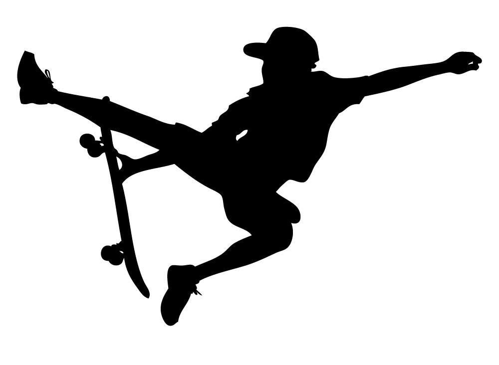 1000x732 Wallmonkeys Skateboarding Sport 1 Peel And Stick Wall Decals