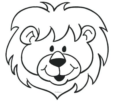 391x349 Lion Outline Free Download Best Lion Outline On Black Amp White