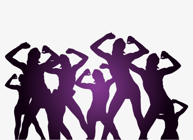 650x474 Vector Dancing Crowd, Dancing Silhouette, Beauty Silhouette