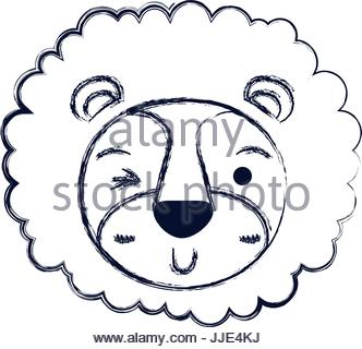 332x320 Blurred Silhouette Cute Face Of Lion Tranquility Expression