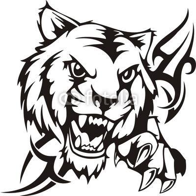 399x400 Lion Head Silhouette Clip Art Clipart Library