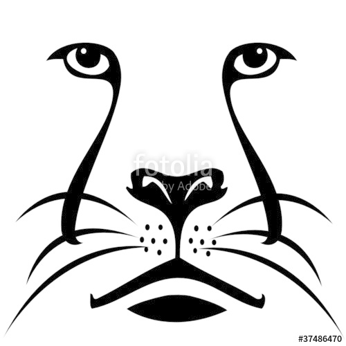 500x500 Lion Face Silhouette Stock Image And Royalty Free Vector Files