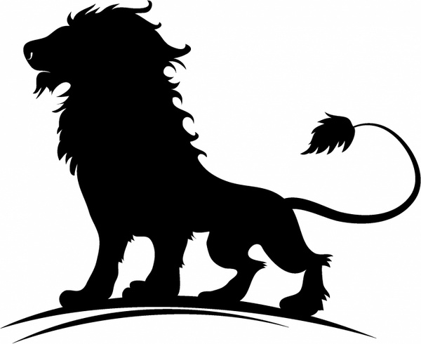 600x490 Lion Head Silhouette Free Vector Download (7,161 Free Vector)