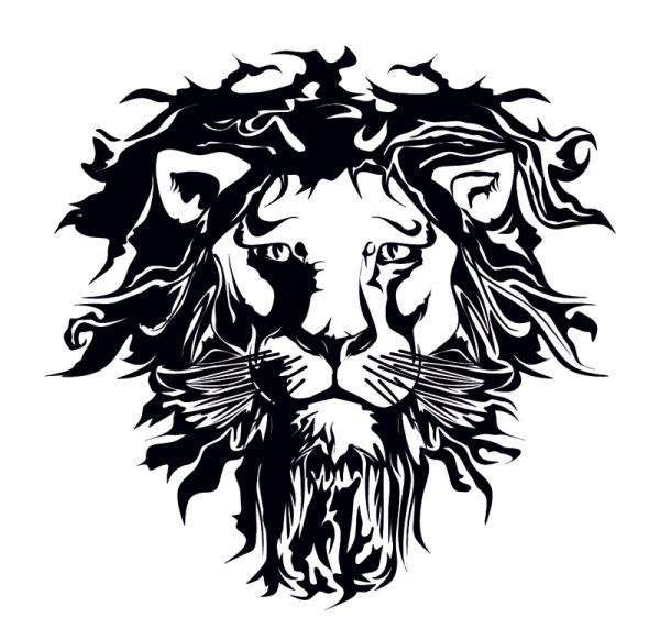 600x582 A Lion Head Logo In Black Vector Sources