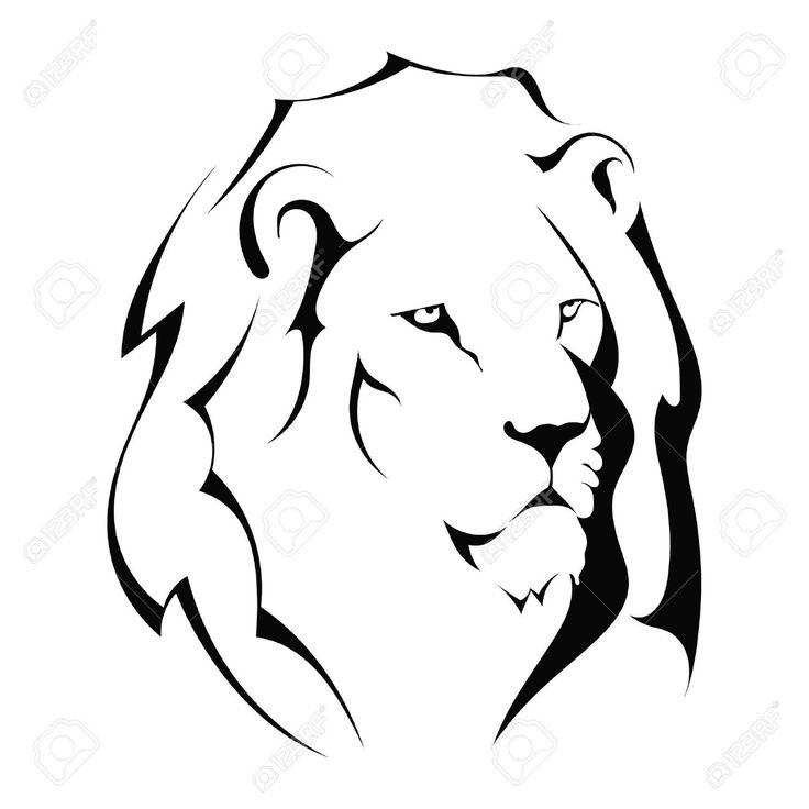 Lion Head Silhouette Clip Art
