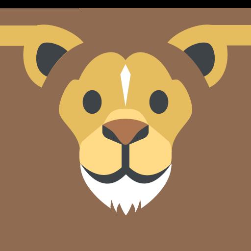 512x512 Lion Face Emoji Vector Icon Free Download Vector Logos Art