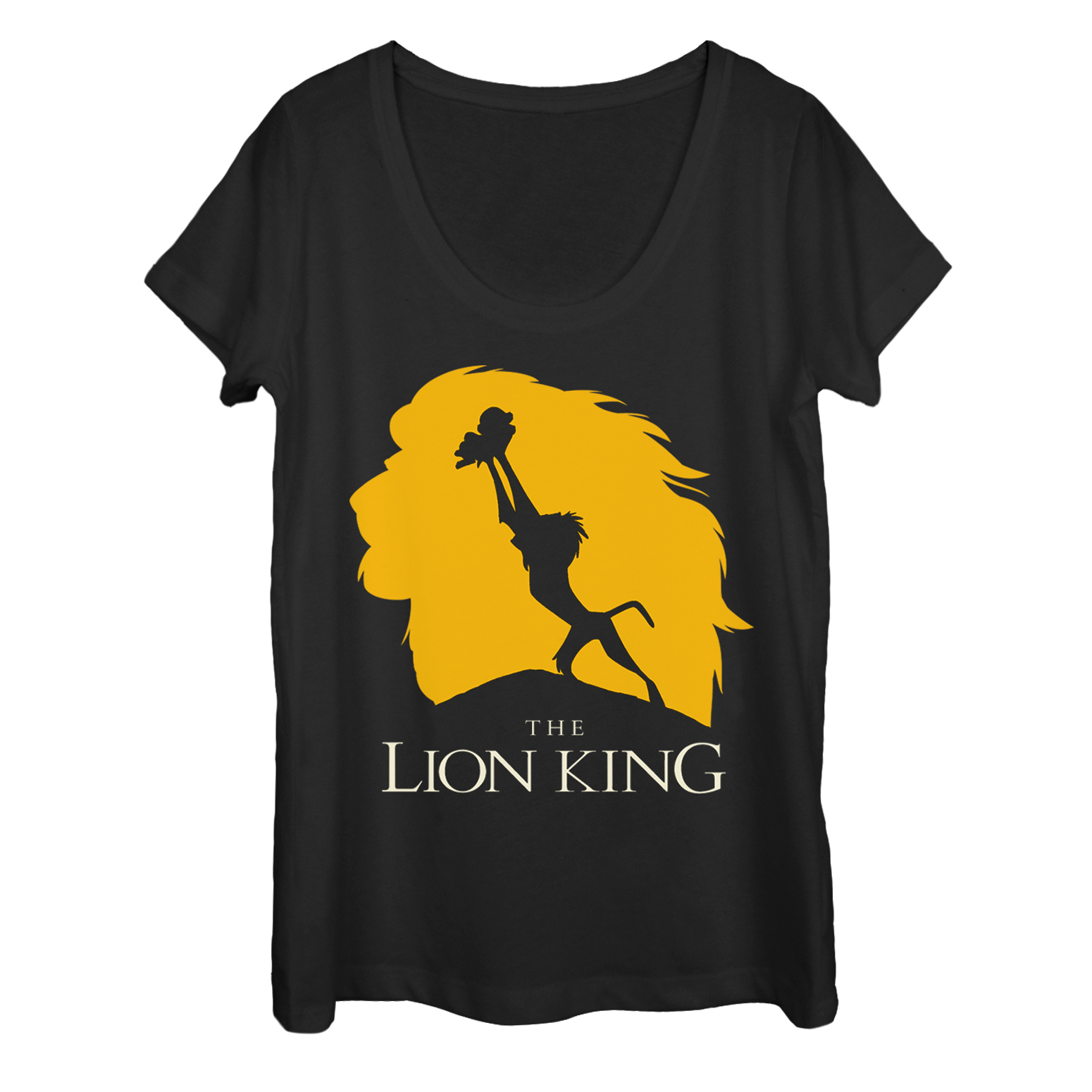 1550x1550 Lion King Pride Rock Silhouette Womens Graphic Scoop Neck Ebay