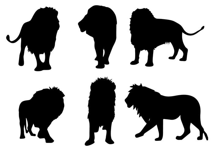 700x490 Free Lion Silhouette Vector