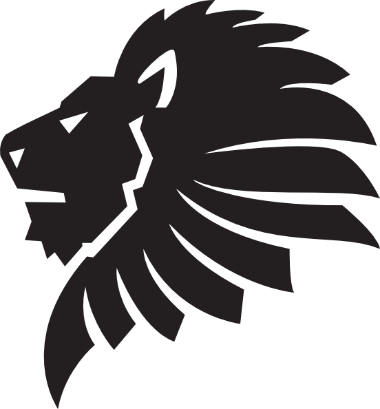 552x594 Lion Clipart Face Outline
