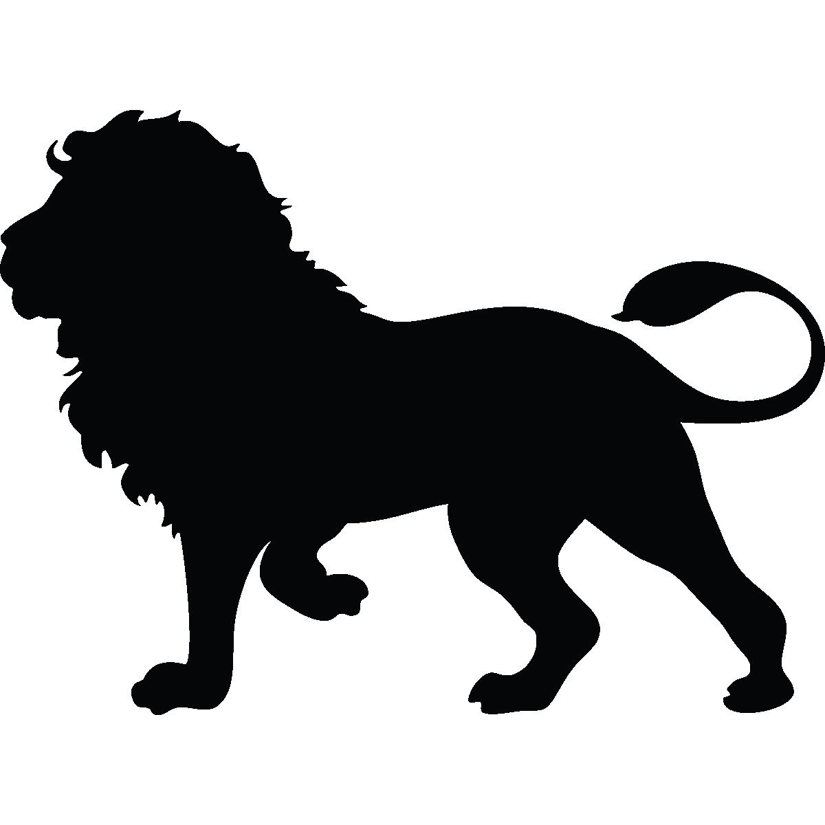1200x1200 Sticker Silhouette Lion Majestueux Lion Silhouette, Silhouette