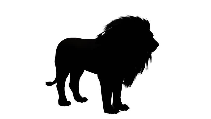 852x480 Lion Howl Trumpet,endangered Wild Animal Wildlife Sketch