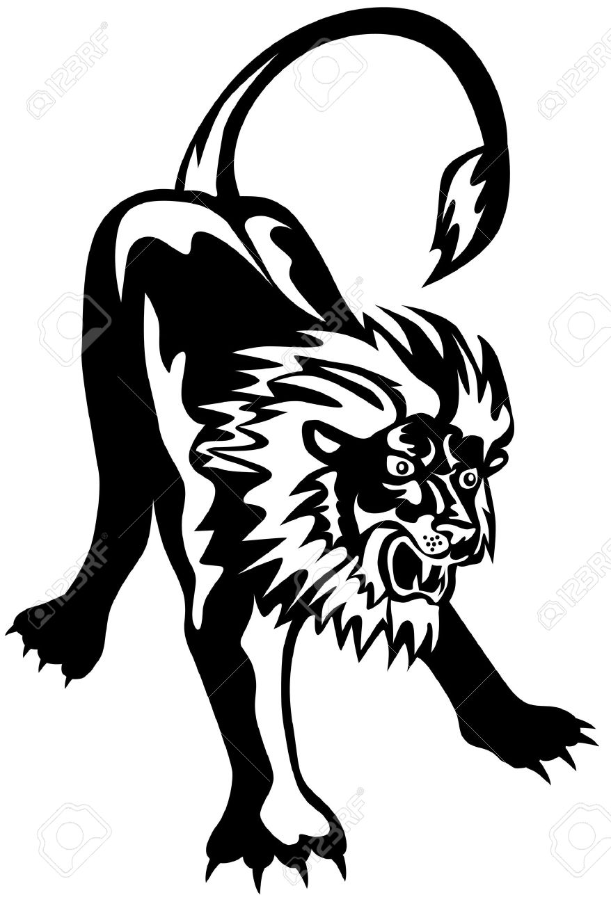 878x1300 Ready To Pounce Clipart