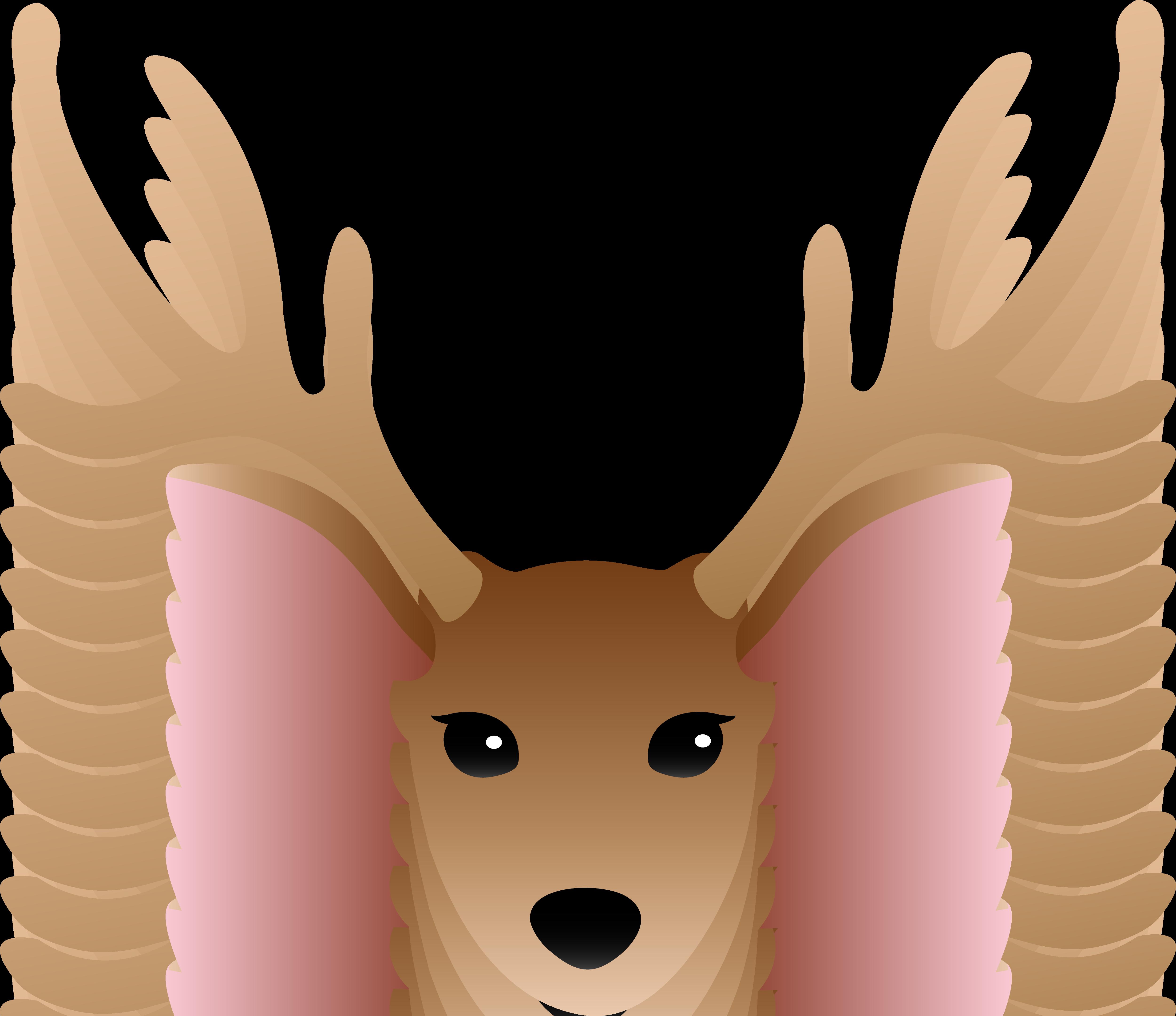 5001x4319 Baby Deer Silhouette Clip Art