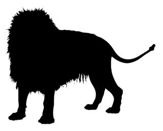 320x258 Lion Silhouette 1 Decal Sticker