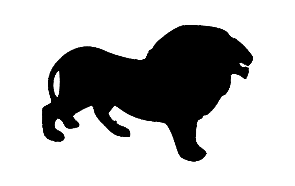 1002x633 Lion Silhouette Dxf File Free Download
