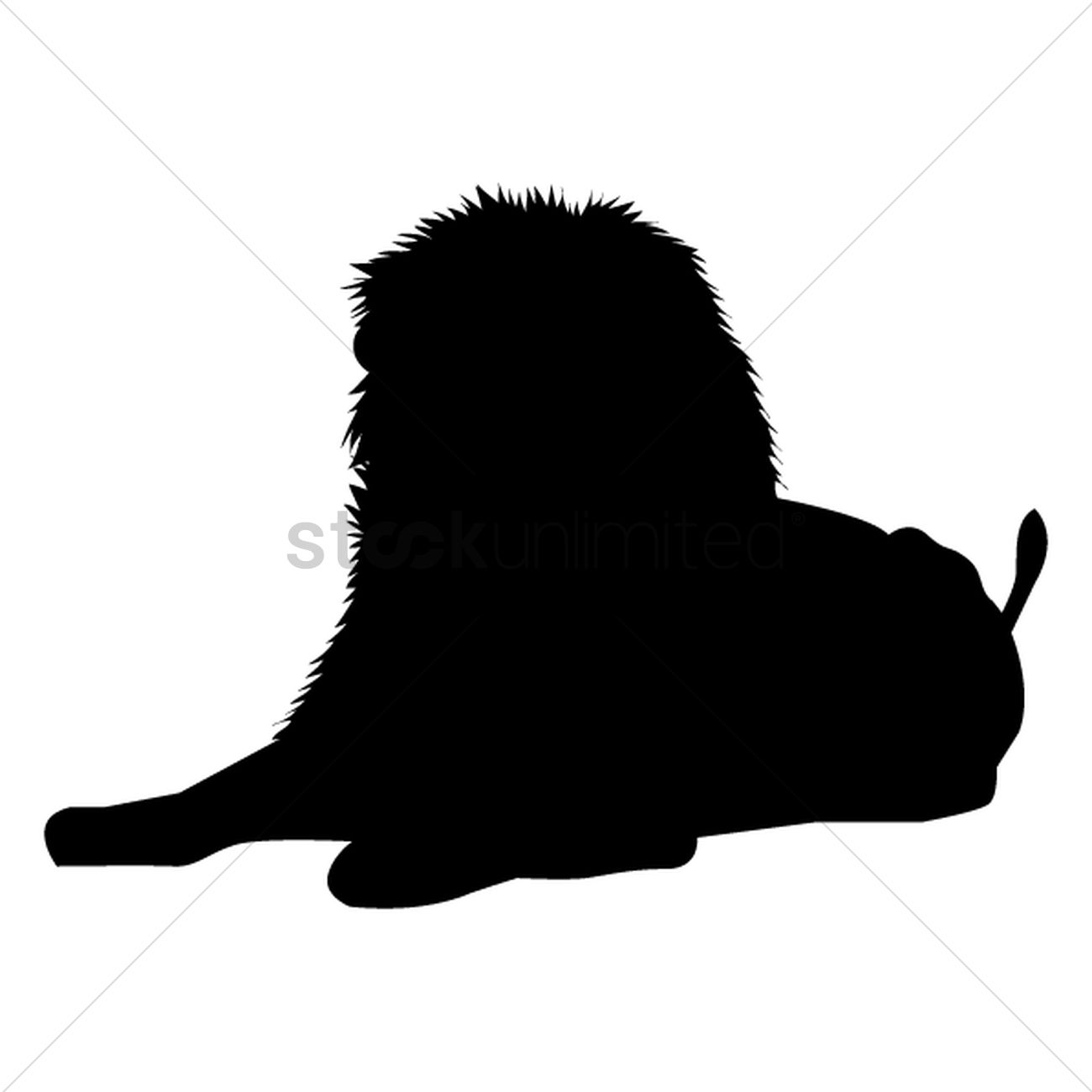 1300x1300 Silhouette Of Sitting Lion Vector Image