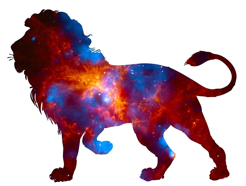 800x606 Galaxy Lion Silhouette Posters By Nefariouspop Redbubble