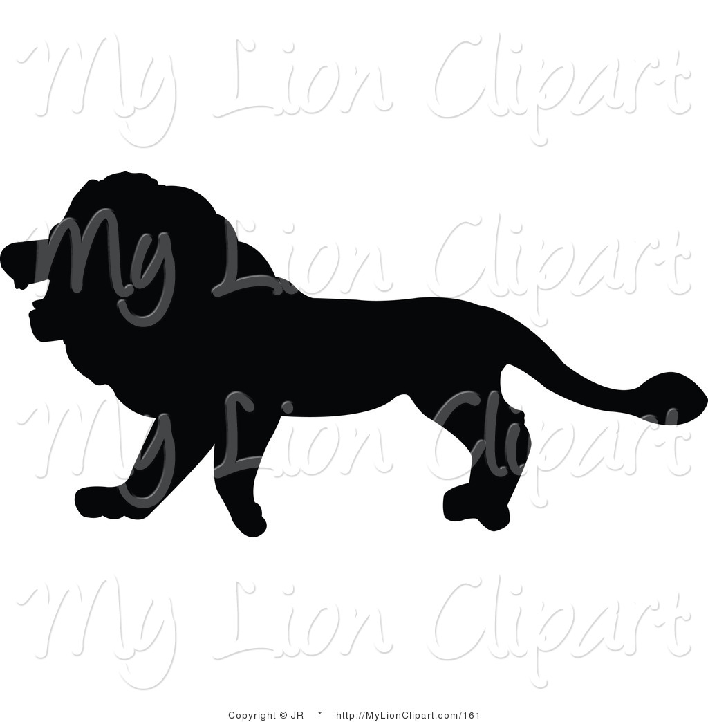 1024x1044 Clipart Of A Profiled Black Lion Silhouette Facing Left By Jr