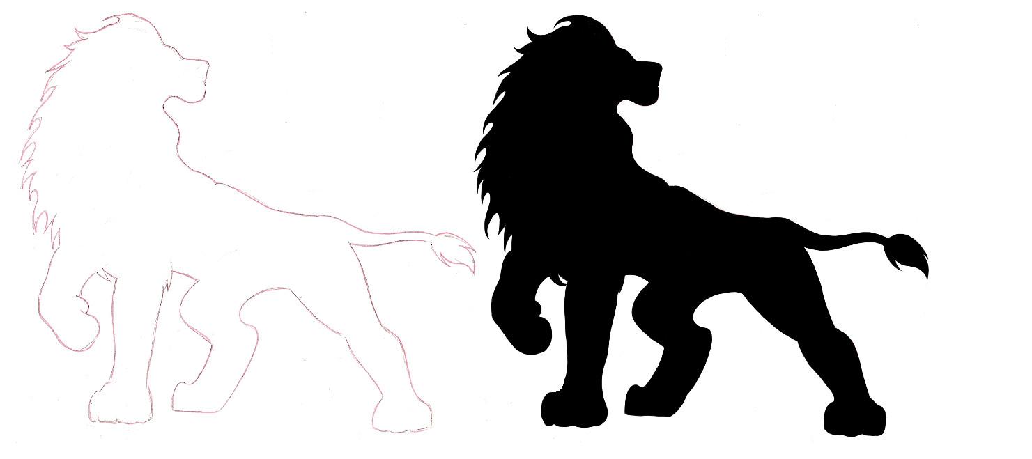 1481x659 Lion Silhouette Tats Lion Silhouette
