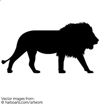 335x355 Download Lion Silhouette