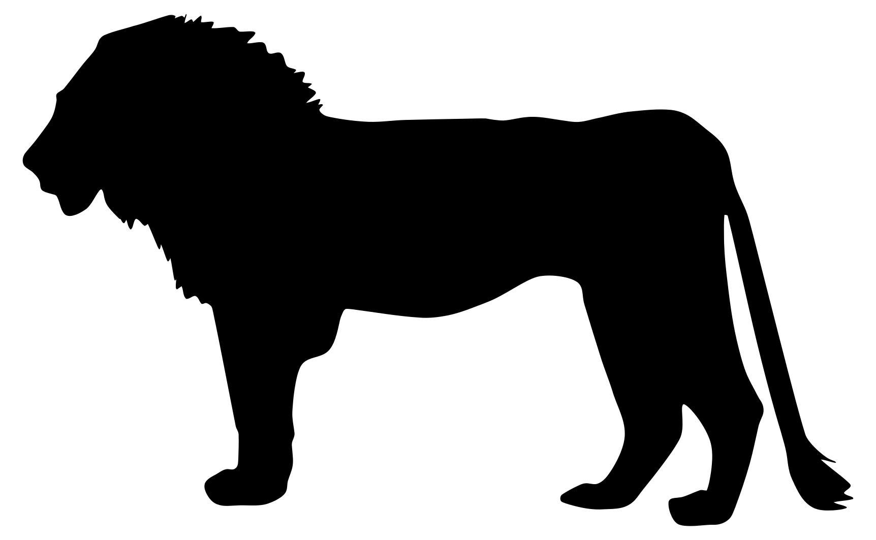 1724x1063 Lion Profile Silhouette Clipart
