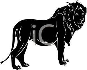 300x241 Lion Silhouette