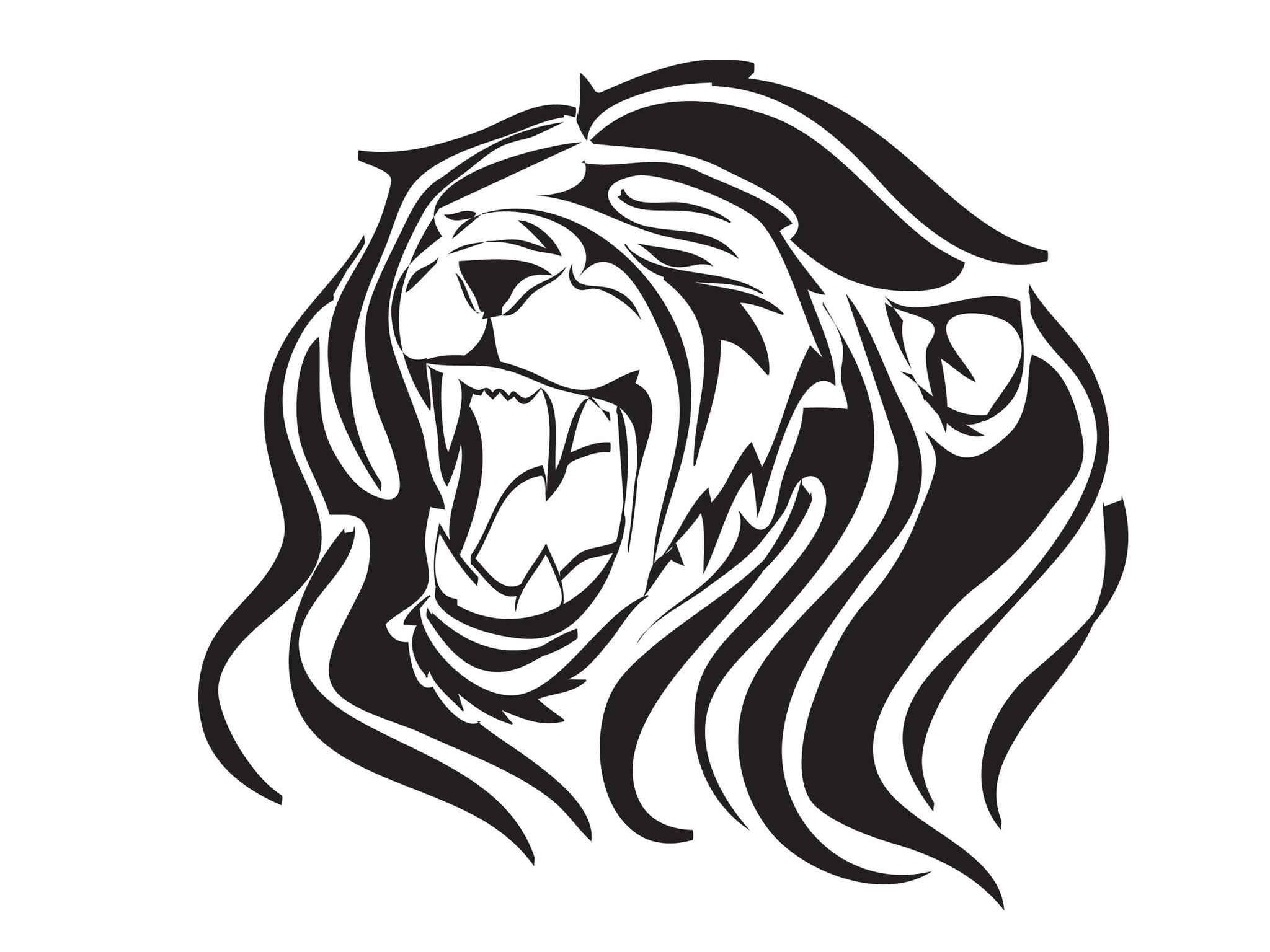 Lion Silhouette Tattoo at GetDrawings   Free download