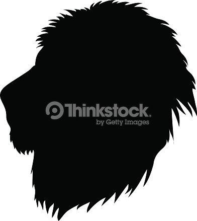 392x439 Vector Art Lion Head Silhouette Night Watch