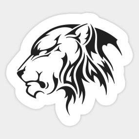 285x285 Silhouette Lioness Insignia