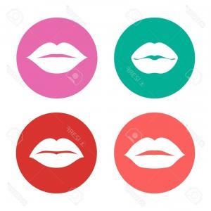 300x300 Photostock Vector Red Lips Vector Illustration Lips Vector Icon