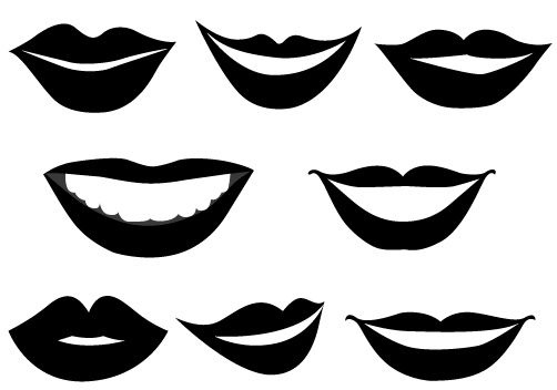 502x352 Smiling Lips Vector Graphics Vector Graphics, Clip Art And Graphics