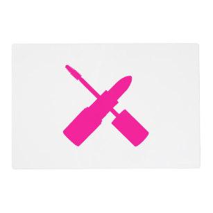 307x307 Lipstick Mascara Pink Silhouette Print Gifts On Zazzle