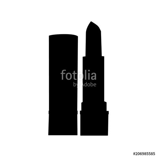 500x500 Vector Silhouette Lipstick Stock Image And Royalty Free Vector