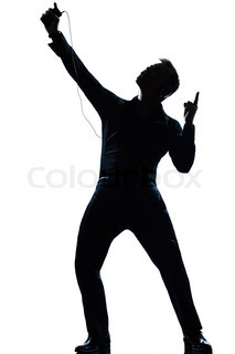 213x320 Music Fan Silhouette Of Man With Earphones Stock Photo Colourbox