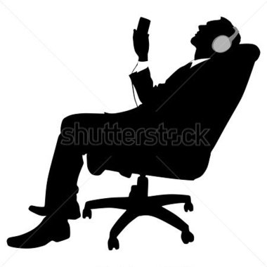 380x380 Person Listening To Music Clipart