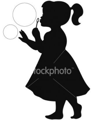 Little Black Girl Silhouette