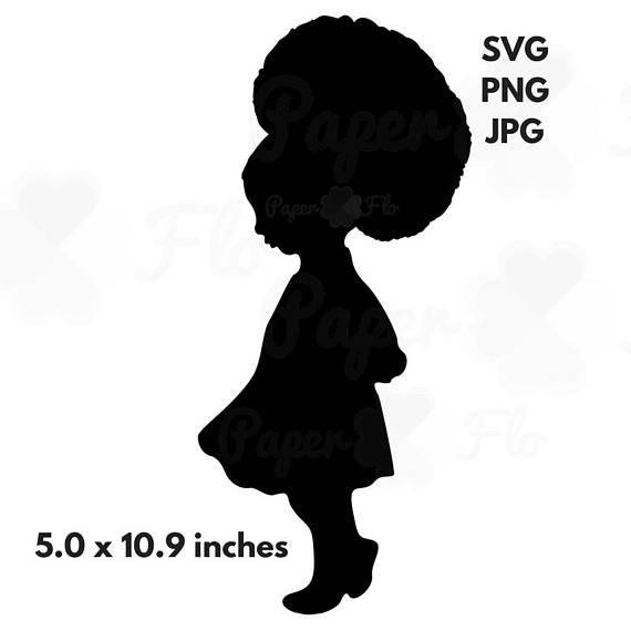 570x570 Little Girl Afro Svg Girl Afro Puff Svg Black Princess Clip Art