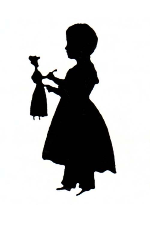500x749 Little Girl Silhouette Graphics Lucky Palm Graphics