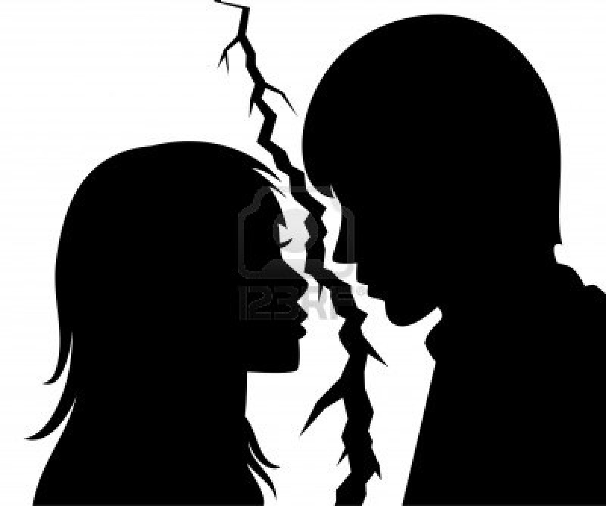 Little Boy And Girl Silhouette