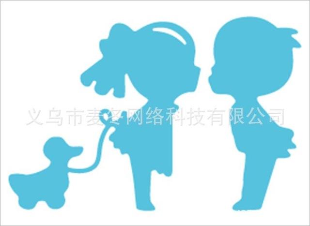 640x467 Little Boy Girl With Puppy Die Cuts,metal Cutting Dies