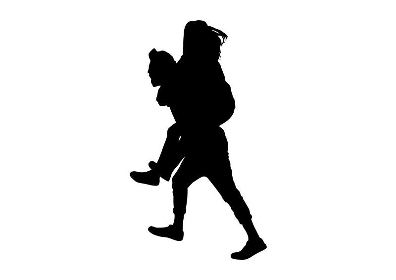 800x566 Of Boy Carrying Girl On His Back
