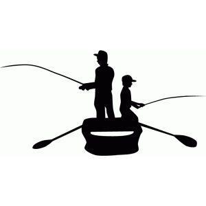 300x300 Father Amp Son Fishing Silhouette Silhouette Design, Silhouette